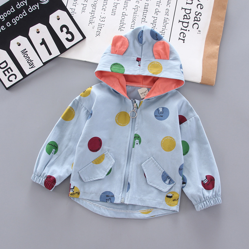 Autumn Spring Baby Boys Girls Clothes Toddler Outerwear Boutique Infant Warm Cotton Coat Dot Printed Tops Hoodies For Boy Girl