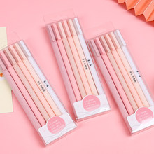 6 pièces/ensemble créatif mignon Morandi Simple Gel stylo Kawaii bouchon de séchage rapide stylo neutre balle Journal fournitures Gel stylo ensemble