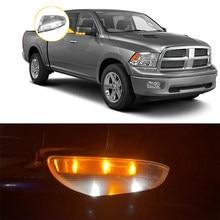 Lado do carro espelho retrovisor led transformar luz indicador de visão traseira piscar luz de sinal para dodge ram 1500 2009 ~ 2014 ram 2500 2010 ~ 2014