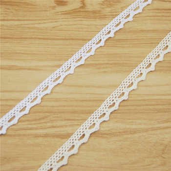 FASMILEY Wholesale 12mm Cotton Lace Trim Ivory White Net Lace Ribbon DIY Lace Fabric Trimmings Lace Applique 600 yards LC001-AA