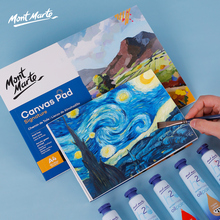 100% Cotton Professional Oil Painting Book 10 Sheets 280g/m2 Beginner oil painting practice canvas Acrylic paint canvas book