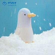 Dosificador JabóN otomatik dağıtıcı çocuklar için sevimli penguen otomatik akıllı indüksiyon köpük yıkama el Sanatizer çocuk için