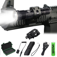 1200Lumens 368 YardsTactical Scout Light Underbarrel Weapon Flashlight Hunting Rifle LED Airsoft Element Pressure Switch Holster