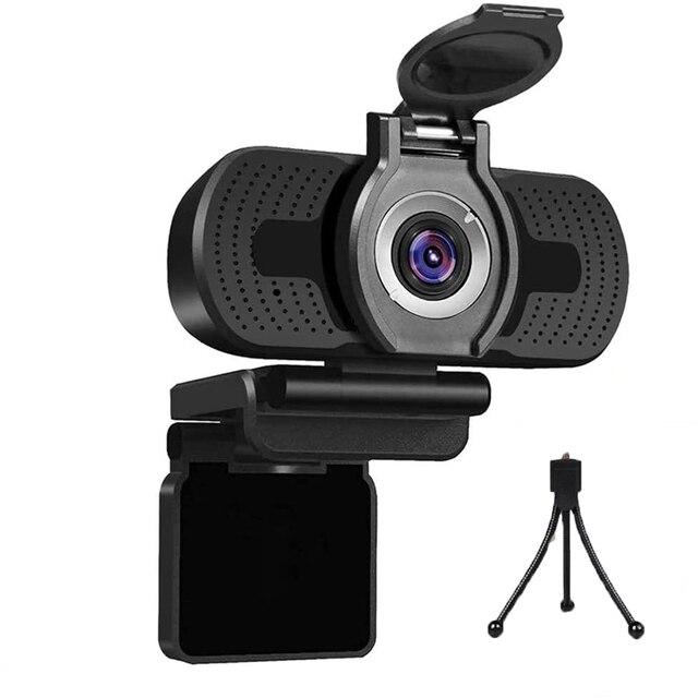 Usb câmera hd 1080p computador câmera com capa de poeira webcam para webcast vídeo conferência webcam completo hd 1080p camara web para pc 1