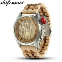 Shifenmei Wood Watch Fashion Casual Brand Waterproof Quartz