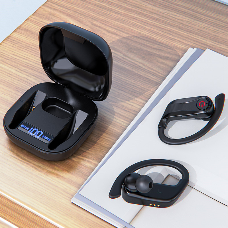 New Wireless Bluetooth V5 0 Earphone Ear Hook Wireless Headphone Sports Earphone For Iphone For Samsung Xiaomi Android Phone Bluetooth Earphones Headphones Aliexpress