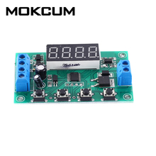 4Bit  DC 5V 12V 24V 10A Trigger Counter Module MOS Delay Circuit Switch Timer 32-Function Delay MOS Tube Module
