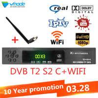 DVB T2 S2 DVB C 3 in 1 kombiniert hd digitale boden Satellite receiver unterstützung AC3 Cccam Youtube IPTV Biss set top boxen mit wifi