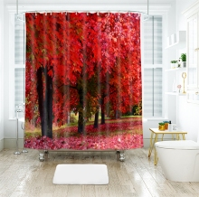 3d Mangrove Natural Autumn Scenery Shower Curtains Waterproof Thickened Bath Curtains for Bathroom Customizable mangrove litters decomposing fungi of sundarbans