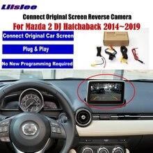 Tylna kamera cofania samochodu dla Mazda Demio 2 Mazda2 Hatchaback 2014 ~ 2019 kompatybilny oryginalny ekran parking samochodowy kamera tylna