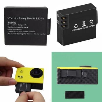 900mAh For SJCAM Sport Camera Battery Rechargeable with 2 Battery Charger for SJCAM SJ4000 SJ5000 SJ6000 BMS Action Cam Bateria 3 7v 900mah rechargeable camera battery with dual battery charger for sjcam sj4000 sj5000 sj6000 for action camera battery