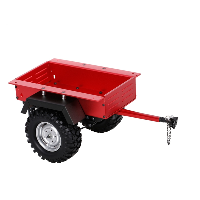 Metal Leaf Spring Trailer Car for <font><b>1/10</b></font> <font><b>Scale</b></font> <font><b>RC</b></font> Crawler Car Axial SCX10 90046 Traxxas TRX4 TRX6 Tamiya Redcat image