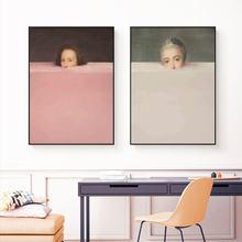Nordic figura abstrata pintura da lona criativo colorido arte da parede cartazes e impressões imagem cuardos para sala de estar decoração casa