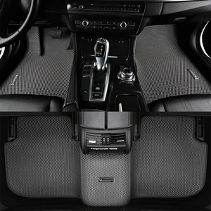 Image 2 - חלת דבש כפול שכבה כפולה עיצוב רכב רצפת מחצלת מסתיר לכלוך EVA שטיח עבור פולקסווגן גולף פולו חיפושית CC Magotan פאסאט tiguan טוראן