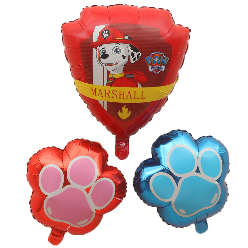 New Paw Patrol Birthday Decoration Figure Toys Puppy Patrol Balloon Toys Party Room Decor Chase Marshall Ballon Kids Girls Toy