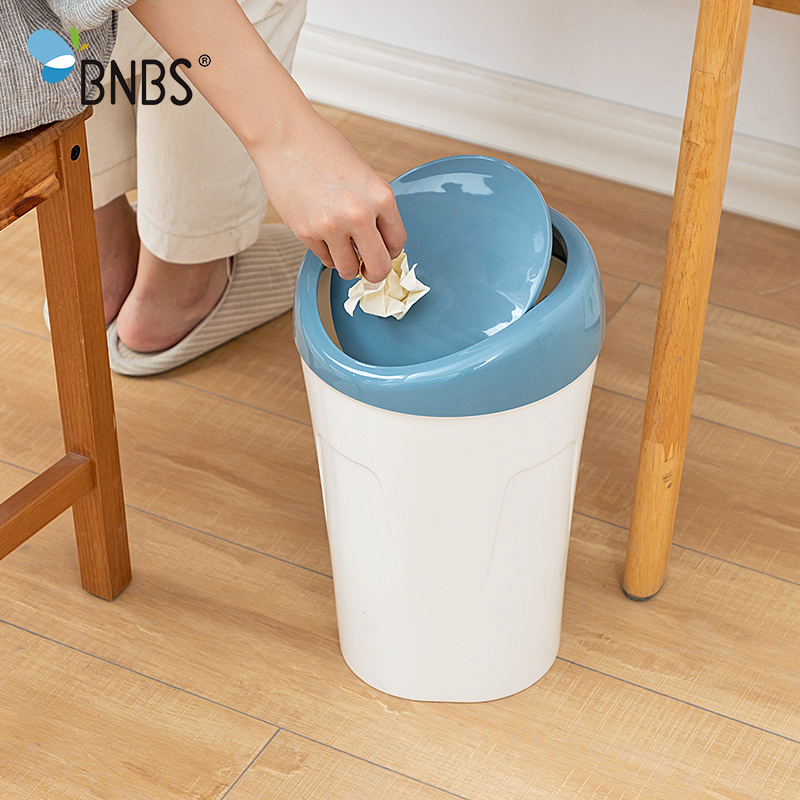 Home High Capacity Shake Cover Trash Can Garbage Bucket Recycle Waste Bins Container For Garbage Paper Basket Kitchen Supplies|Waste Bins| |  - title=