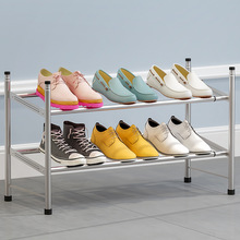 Simple Shoe Rack Retractable Household 2-story Economic Space-Saving Dormitory Shoes Cabinet Door Dustproof 2020 New