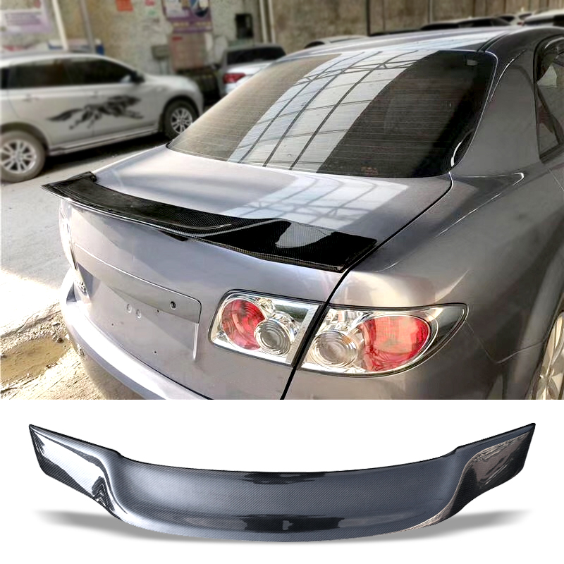 Car Trunk Spoiler Carbon Fiber FRP Auto Rear Trunk Wing R Style Refit Accessories Spoiler For Mazda 6 2003 2013 M6|Spoilers & Wings| |  - title=