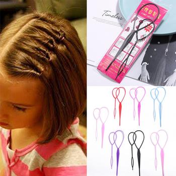 Popularny 1 zestaw kucyk Creator plastikowe ucho urządzenie do stylizacji s czarny Topsy Pony Topsy spinacze pasmo włosów ekspres urządzenie do stylizacji mody tanie i dobre opinie DADIFEN CN (pochodzenie) Plastic Refer to the picture Plecionka Retail Wholesale Drop Ship Hair Braider Hair Styling Centipede Braid Hair Styling