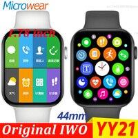 IWO YY21 Smart Uhr Männer SIRI Wasserdichte 1,78 Zoll Druck Herz Rate Fitness Tracker BT Anruf sport Uhr 6 Smartwatch