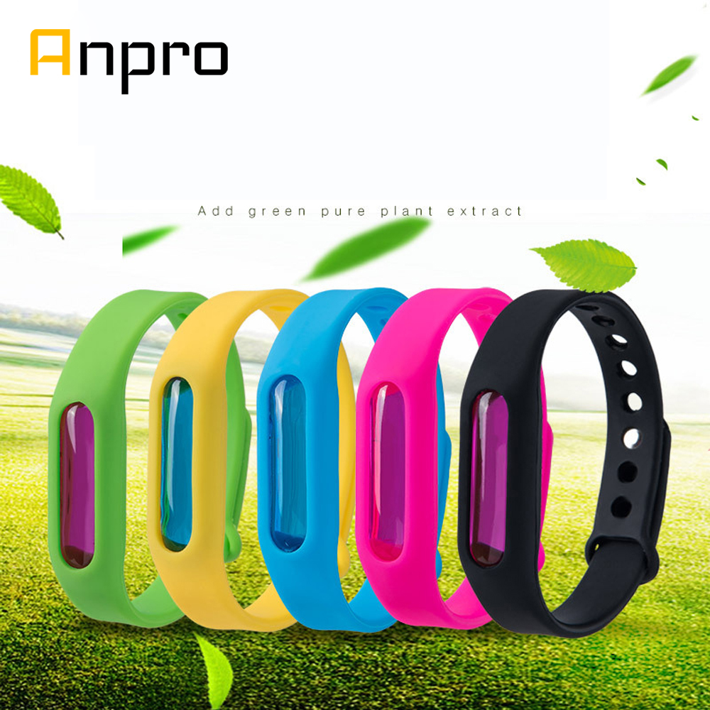 Anpro Mosquito Repellent Bracelet Silicone Capsule Pest Insect Bugs Control Anti-Mosquito Wristband for Kids Mosquito Killer(China)