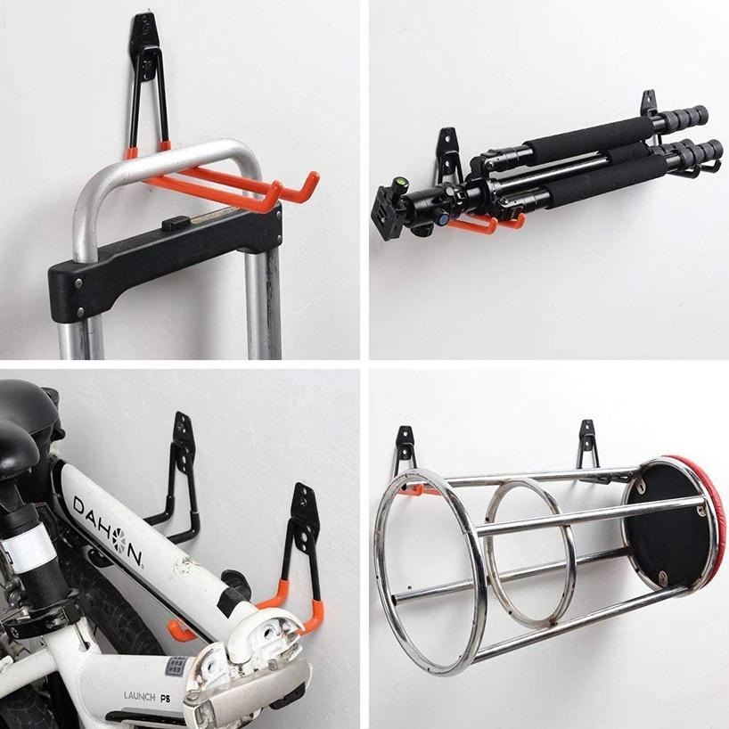 4 pcs Heavy Duty Bike Bicycle Wall Mount Storage Garage Holder Hook Steel Rack