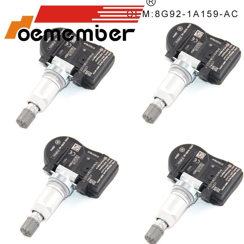 4PCS 8G92-1A159-AC Car Tire Pressure Sensor TPMS System Sensor For Ford Galaxy Mondeo S-Max 433MHZ