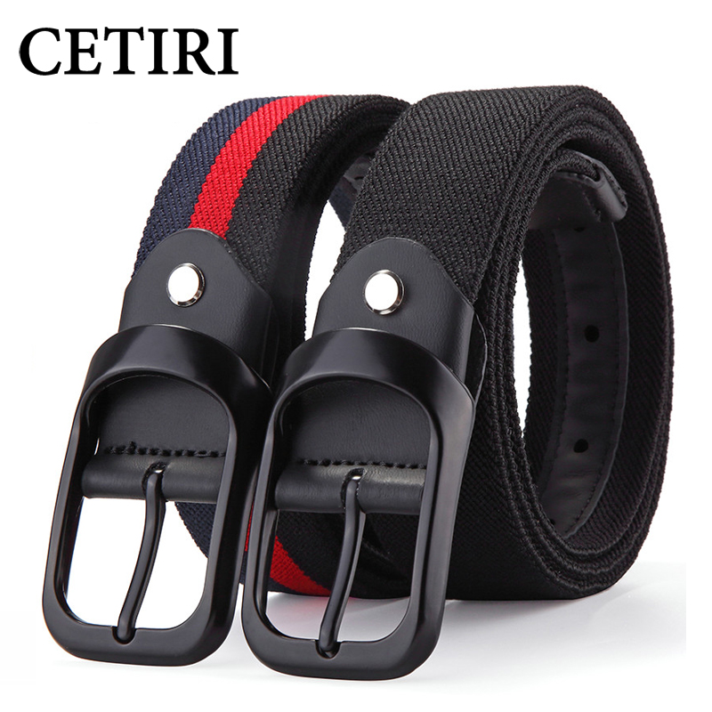 CETIRI Elastic Canvas Belt New Men & Women High Quality Pin Buckle Belt  Canvas Military Belt Luxury Jeans Tactical Belt