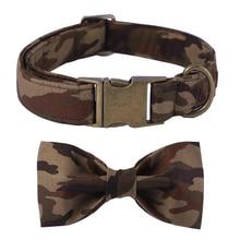 Camouflage Bow Tie Dog Collar & Leash Set