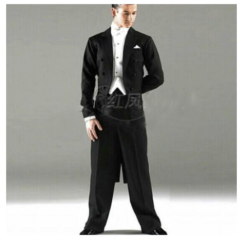 DHL Free Direct Selling Promotion Sale Customized Men Ballroom Tail Suit International Stand stage dance wears