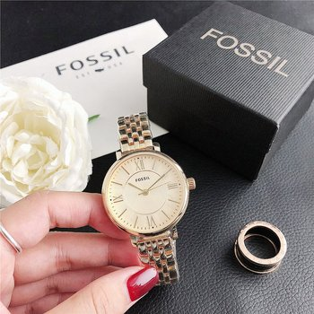 Fossil- Quartz Wrist Dress Women Watches Silver Bracelet Ladies Watch Stainless Steel Clock Casual Watch