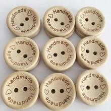 100 pçs/lote botões de madeira roupas decoração do casamento artesanal carta amor diy artesanato scrapbooking para costura acessórios