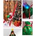 Светодиодное Рождественское украшение, Санта-Клаус, электрическая подвесная Рождественская игрушка для скалолазания, домашнее рождествен...