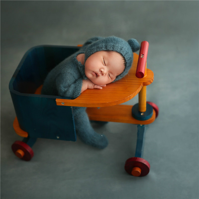 Newborn Photography Prop Baby Posing Container Four-wheeled Detachable Cart Baby Shoot Accessories Creative Big Props New Style