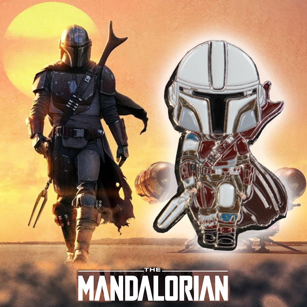 Cosplay Star Wars Mandalorian Baby Yoda Jedi Pin Badge Brooch Accessories Star Wars Action Figure Props
