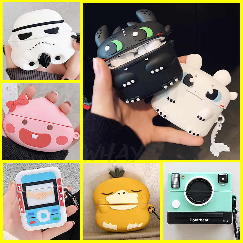Śliczne etui do Airpods Pro Coque Case 3D Cartoon silikonowe Funda Bluetooth etui na słuchawki do Apple Airpod Pro 3 air pod Pro okładka