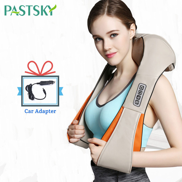 U Shape Electrical Shiatsu Massager Shawl Fast Shipping Neck Shoulder Finger Massage Infrared 4D kneading Car Home Health Care