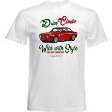 VINTAGE coche italiano ALFA ROMEO GT JUNIOR 1969-Nueva camiseta