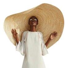 Mulher moda grande chapéu de sol praia anti-uv proteção solar dobrável capa de palha dobrável de grandes dimensões pára-sol chapéu de praia # l5