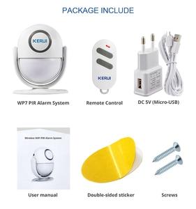 Image 5 - KERUI WP7 WiFi домашняя система охранной сигнализации с поддержкой приложения для обнаружения движения Дистанционное управление 110 дБ Звуковая Buglar сигнализация датчики движения