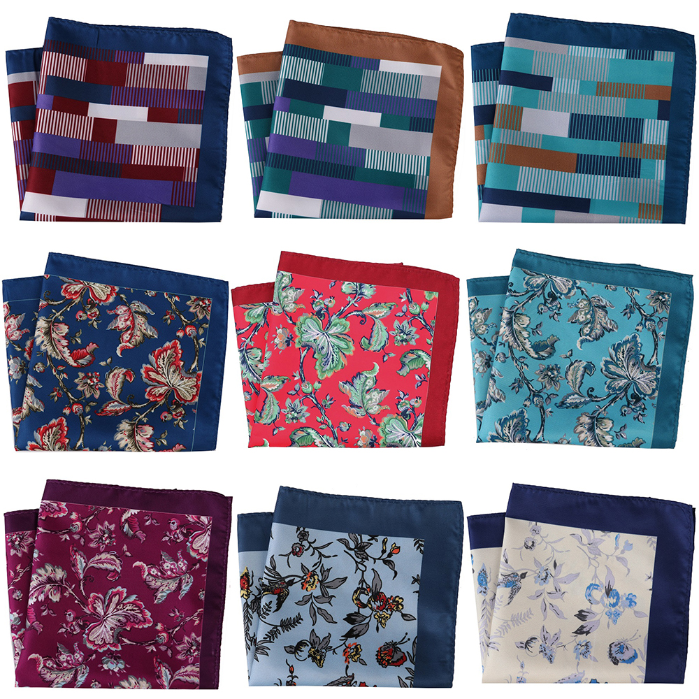 30CM Luxury Men Pocket Squares Large Men's Handkerchief Men Floral Geometric Scarf Pocket Hankies Chest Towel Wedding Party