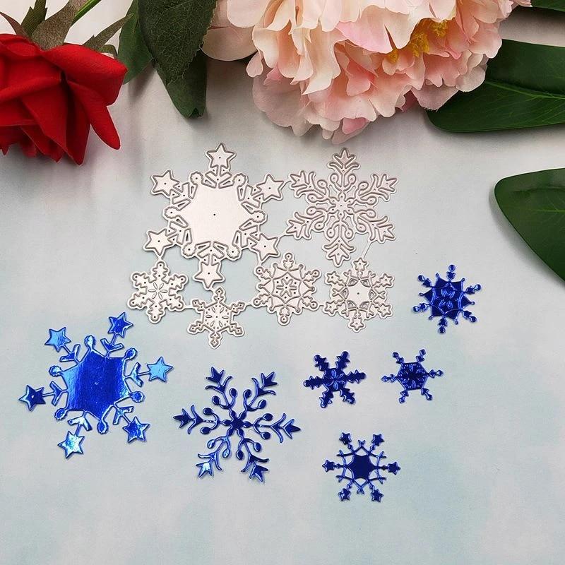 Snowflake Cutting Dies Stencil DIY Scrapbooking Embossing Paper Card Album Craft