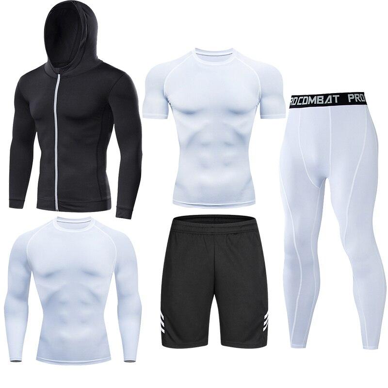 Homme Compression course ensemble serré Legging chemise pantalon manches longues Sport vêtements adolescent survêtement costume homme vêtements de Sport coupe sèche