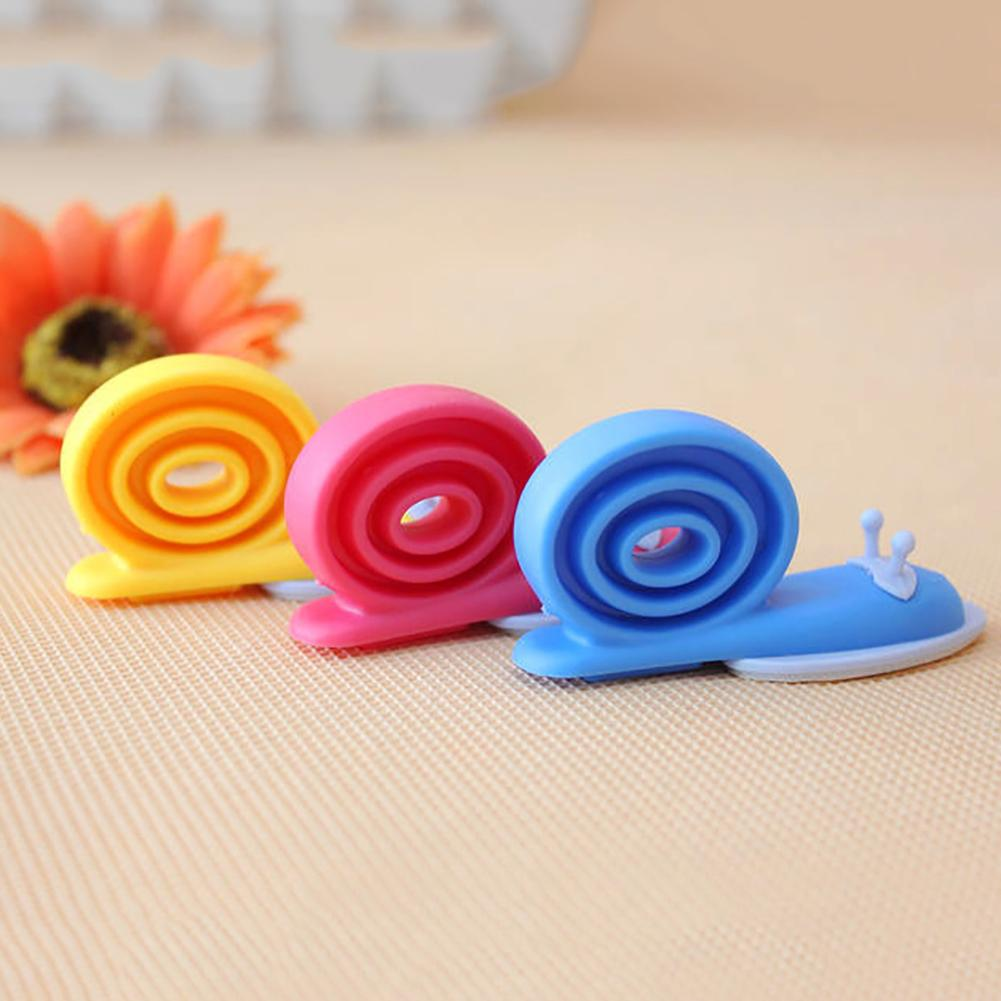 3Pcs Multicolor Snail Shape Anti-folder Proof Pinch Baby Safety Door Stopper Lock New