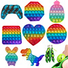 Fidget Toys Pack Its Square Antistress Push Bubble Rainbow Pops For Hands Popis Squishy Pops Reliver Stress For Adults Random