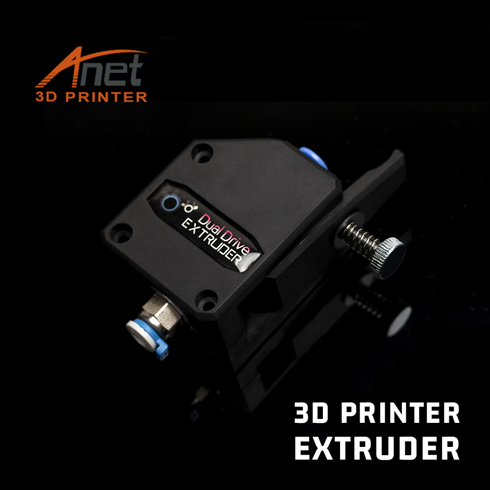 Anet Bowden Direct Extruder Dual-Drive PLA Filaments feeding for Anet A8 Creality CR10 Bondtech BMG Cloned 3D Printers Parts Kit