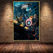 The Avengers Movie Captain America Oil Painting On Canvas Posters And Prints Cuadros Wall Art Pictures For Living Room Unframed фреска the whole room room america syz003a