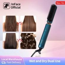 InFace xiaomi – peigne chauffant et démêlant pour cheveux bouclés, fer à lisser, outil de soins capillaires