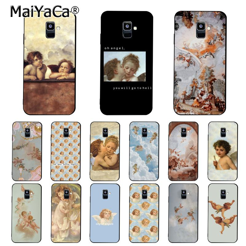 MaiYaCa Vintage Painting Paradise Angel Phone <font><b>Case</b></font> For <font><b>Samsung</b></font> Galaxy A51 A71 A80 A7 A50 <font><b>A70</b></font> A40 A20 A30 A6 A8 Plus A9 image