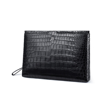 gete New crocodile skin handbag male leather horizontal style male crocodile skin belly handbag large capacity envelope bag gete new crocodile handbag fashion luxury european and american leather handbag bag socialite high capacity female bag